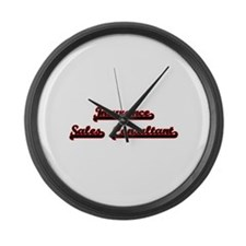 Insurance Sales Consultant Classi Large Wall Clock