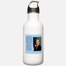 hillary clinton quote Water Bottle
