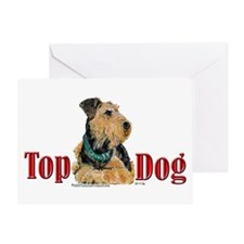 Airedale - Top Dog Greeting Card