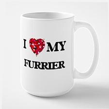 I love my Furrier hearts design Mugs
