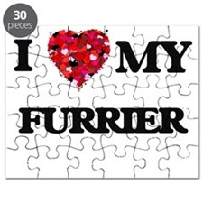 I love my Furrier hearts design Puzzle