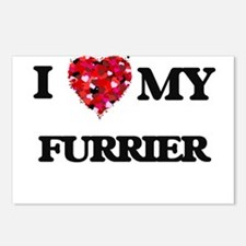 I love my Furrier hearts Postcards (Package of 8)
