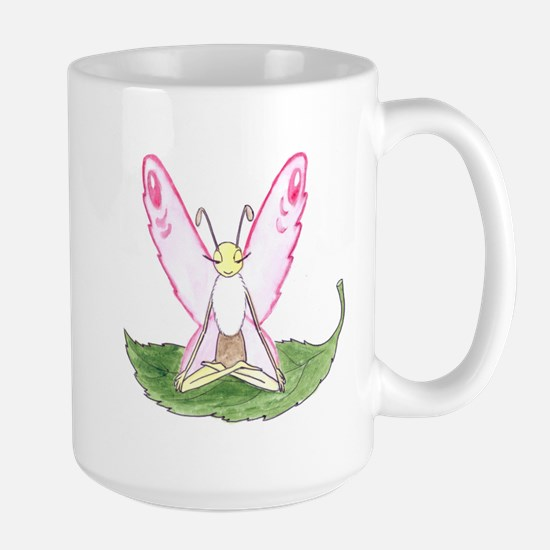 Lotus Pose Butterfly Mugs