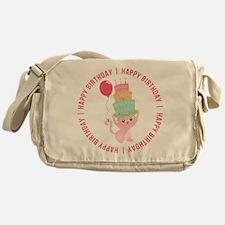 Cute Cat Balloon Birthday Messenger Bag