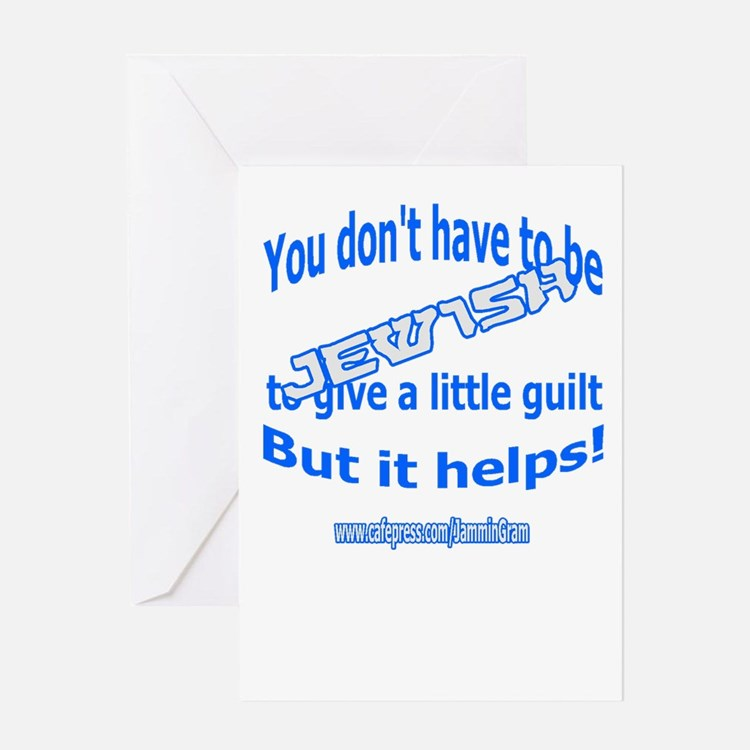 JEWISH GUILT Greeting Card