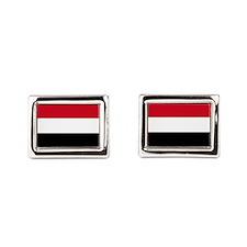 Flag of Yemen Rectangular Cufflinks