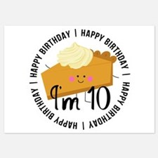10th Birthday Pie Invitations