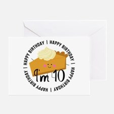 10th Birthday Pie Greeting Card