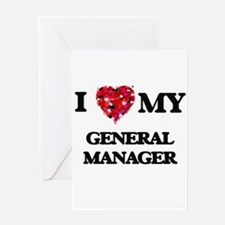I love my General Manager hearts de Greeting Cards