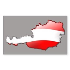 """Austria Bubble Map"" Rectangle Decal"