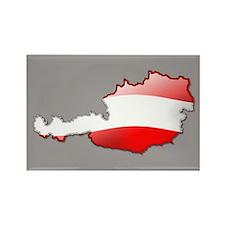 """""""Austria Bubble Map"""" Rectangle Magnet"""