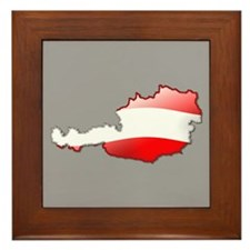 """""""Austria Bubble Map"""" Framed Tile"""
