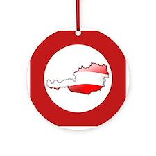"""""""Austria Bubble Map"""" Ornament (Round)"""