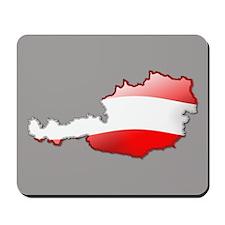 """""""Austria Bubble Map"""" Mousepad"""
