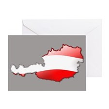 """Austria Bubble Map"" Greeting Card"