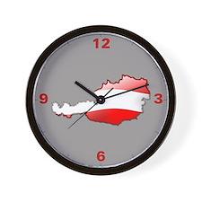 """""""Austria Bubble Map"""" Wall Clock"""
