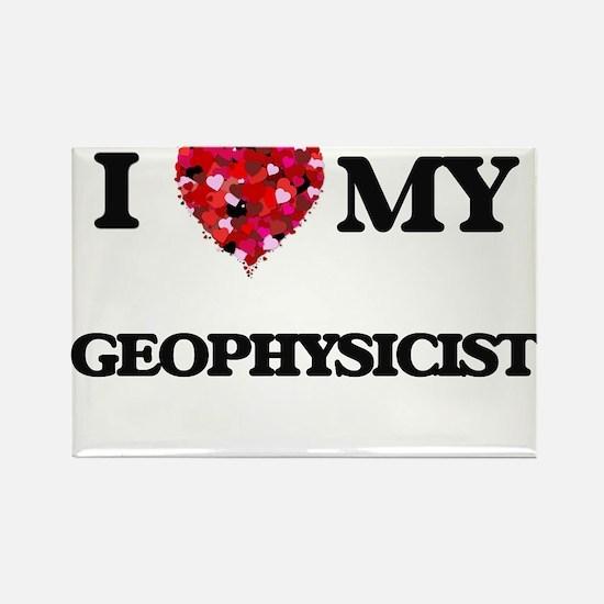 I love my Geophysicist hearts design Magnets