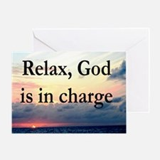 GOD IS IN CHARGE Greeting Card