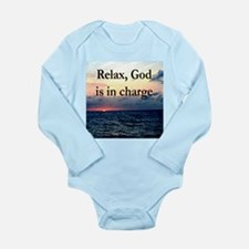 GOD IS IN CHARGE Long Sleeve Infant Bodysuit