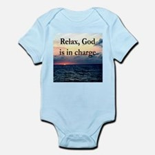 GOD IS IN CHARGE Infant Bodysuit