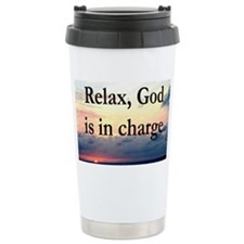 GOD IS IN CHARGE Travel Mug