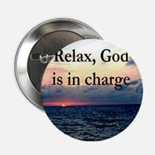 "GOD IS IN CHARGE 2.25"" Button"