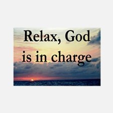 GOD IS IN CHARGE Rectangle Magnet