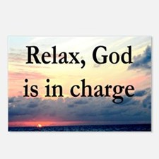 GOD IS IN CHARGE Postcards (Package of 8)