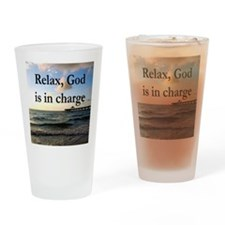 GOD IS IN CHARGE Drinking Glass