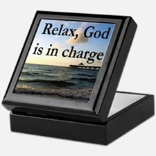 GOD IS IN CHARGE Keepsake Box