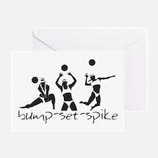 bump-set-spike Greeting Card