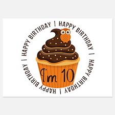 10th Birthday Cupcake Invitations
