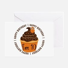 10th Birthday Cupcake Greeting Card