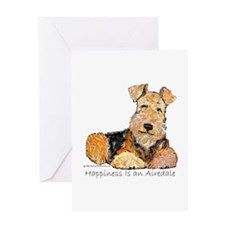 Airedale Happiness Greeting Card