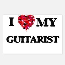 I love my Guitarist heart Postcards (Package of 8)