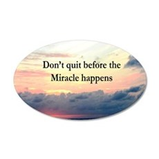 MIRACLES HAPPEN Wall Decal