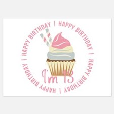 13th Birthday Cupcake 5x7 Flat Cards