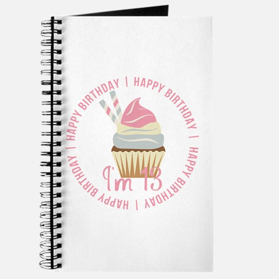 13th Birthday Cupcake Journal