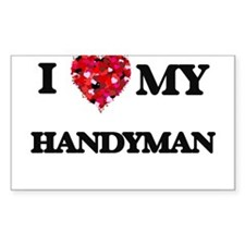 I love my Handyman hearts design Decal