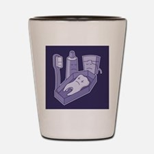 Tooth funeral Shot Glass