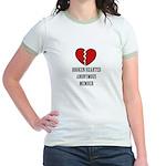 Broken.Hearted Jr. Ringer T-Shirt