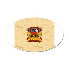 King of the Grill Oval Car Magnet
