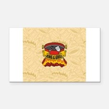 King of the Grill Rectangle Car Magnet