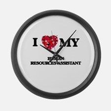 I love my Human Resources Assista Large Wall Clock
