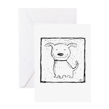 Cute Dog (b&w) Greeting Card