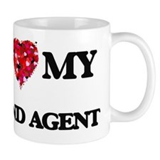 I love my Land Agent hearts design Mug