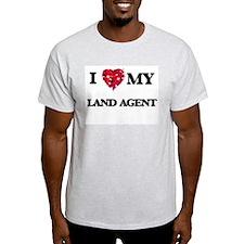 I love my Land Agent hearts design T-Shirt