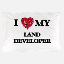 I love my Land Developer hearts design Pillow Case