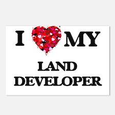 I love my Land Developer Postcards (Package of 8)