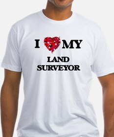 I love my Land Surveyor hearts design T-Shirt